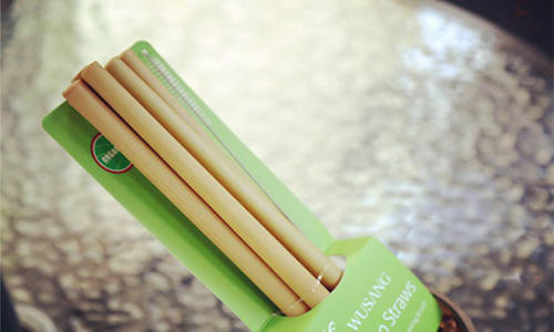 bamboo straws with cleaners